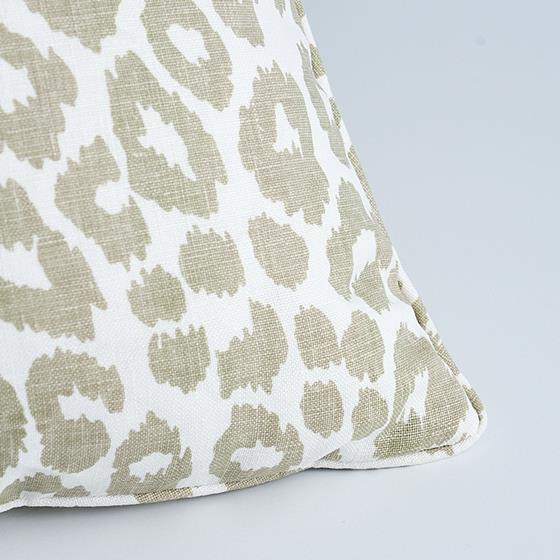 """So17572104 Iconic Leopard 18"""" Pillow Linen By Schumacher Furniture and Accessories 2"""