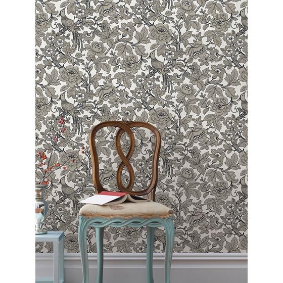 2927-80410 Newport Beaufort Black Peony Chinoiserie by A-Street Prints Wallpaper2