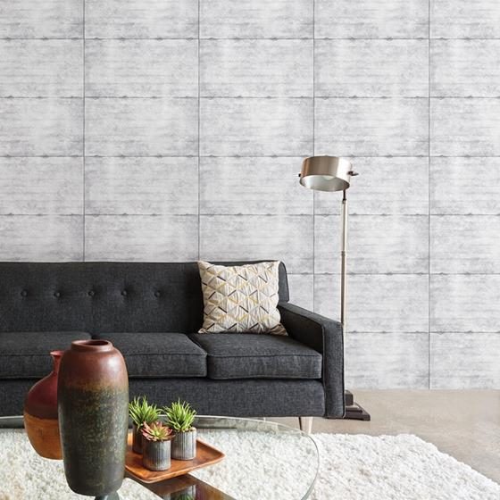 2922-22303 Trilogy Reuther Light Grey Smooth Concrete by A-Street Prints Wallpaper2