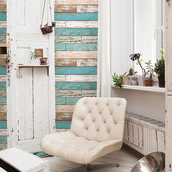 2701-22318  Reclaimed Turquoise Textured by A-Street Prints Wallpaper2