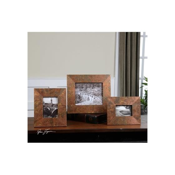 18564 Ambrosia Photo Frames S/3 by Uttermost-2