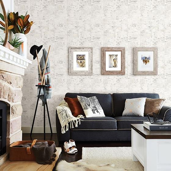 3118-12643 Birch and Sparrow Champlain Grid Wood by Chesapeake Wallpaper2