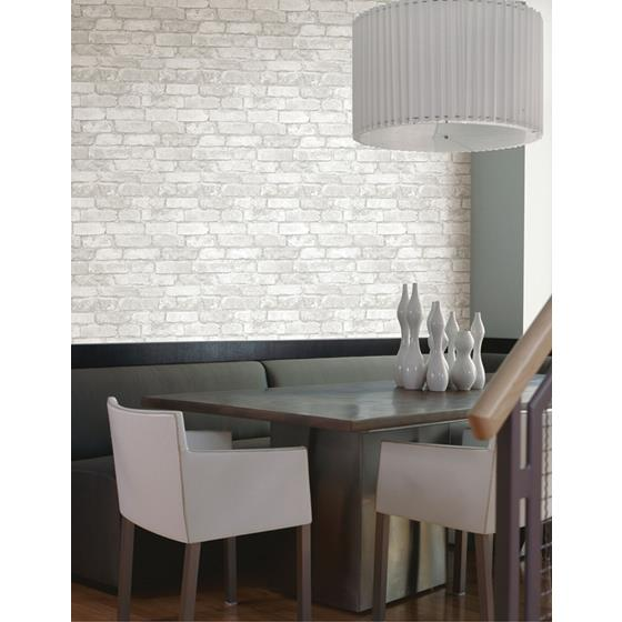 2922-21261 Trilogy Debs White Exposed Brick by A-Street Prints Wallpaper2