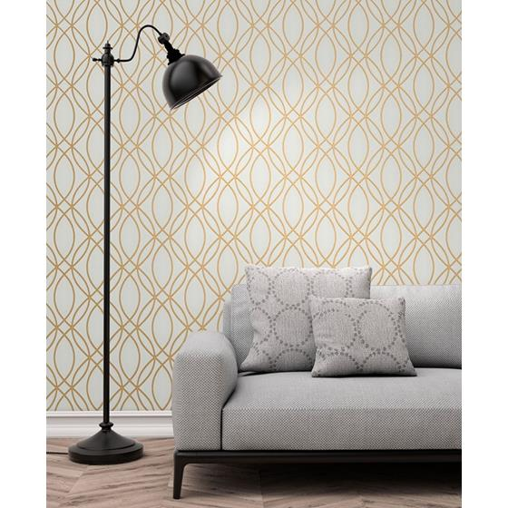 2834-42341 Advantage Metallic Lisandro Gold Geometric Lattice by Advantage Wallpaper2