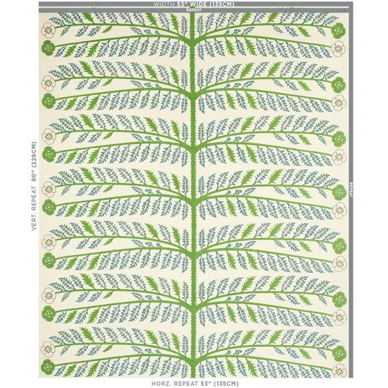 179530 Thistle Ivory By Schumacher Fabric 2