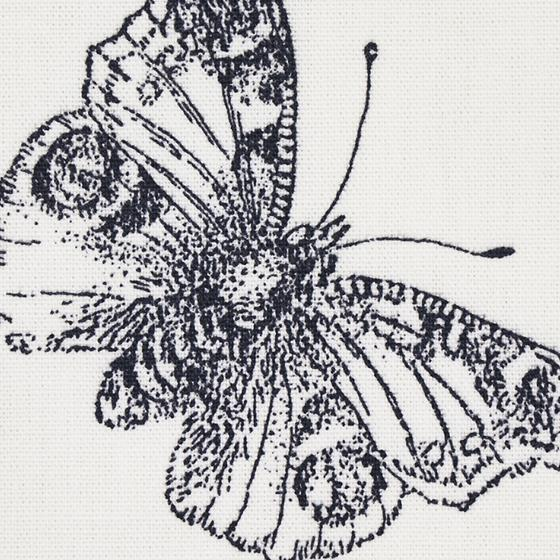179430 Burnell Butterfly Black By Schumacher Fabric 4