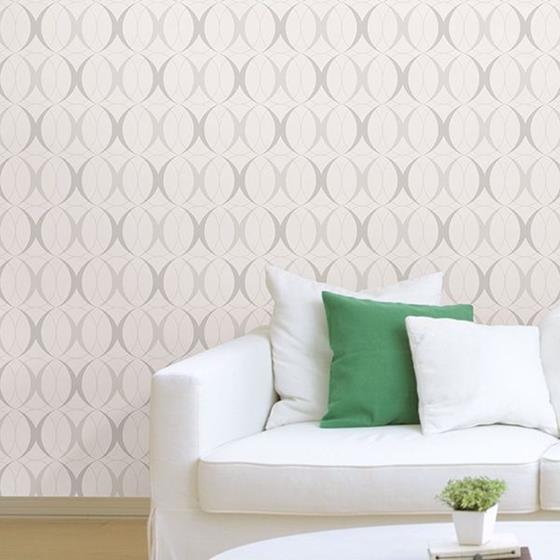 NU1704 Circulate Light Silver Graphics Peel and Stick Wallpaper2