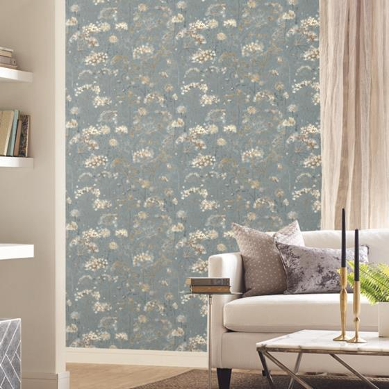 PSW1106RL Simply Candice Botanical Blue Peel and Stick Wallpaper2