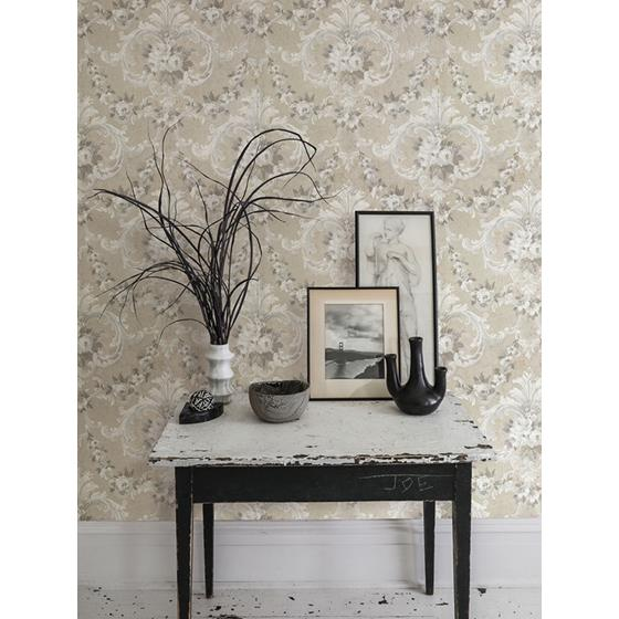 AST4064 Zio and Sons This Old Hudson Natural Neutral Rose Damask by A-Street Prints Wallpaper2