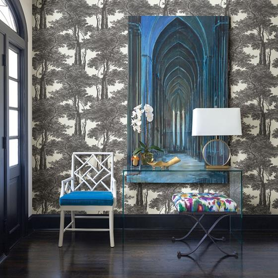 2773-605419 Neutral Black White Scout Black Forest by Advantage Wallpaper2