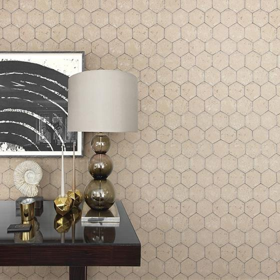 Starling Copper Honeycomb by Brewster Wallpaper