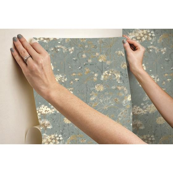 PSW1106RL Simply Candice Botanical Blue Peel and Stick Wallpaper4