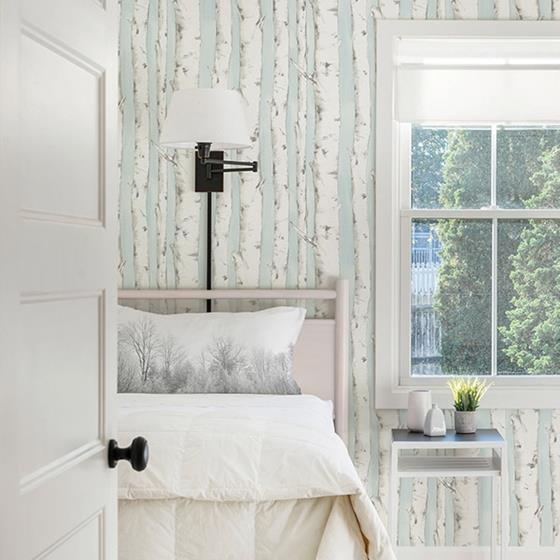 3118-12602 Birch and Sparrow Pioneer Birch Tree by Chesapeake Wallpaper2