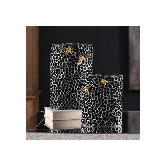 20198 Hive Vases S/2 by Uttermost-2