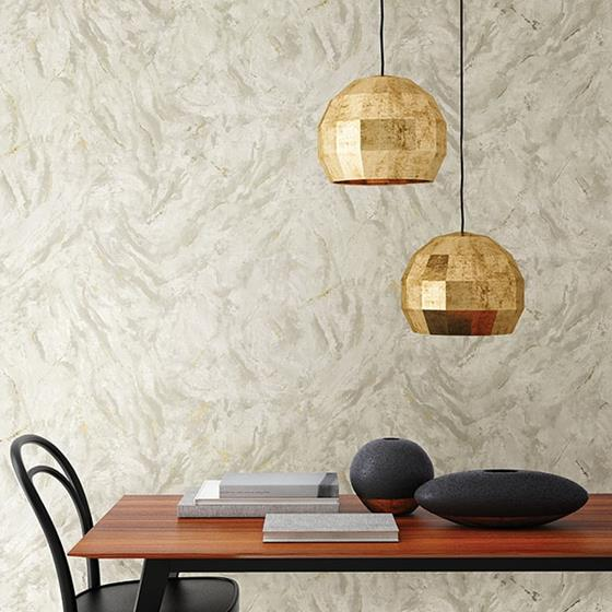 Titania Taupe Marble Texture by Brewster Wallpaper