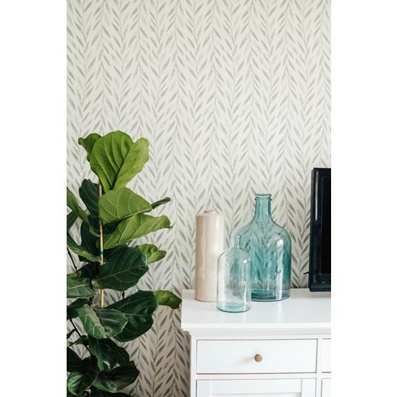 MK1137 | Magnolia Home Artful Prints and Patterns, Willow, Grey Botanical - Joanna Gaines Wallpaper