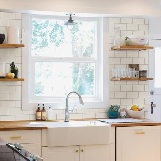 Freedom Off-White Subway Tile by Chesapeake Wallpaper