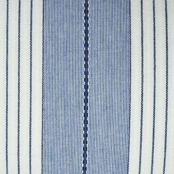 So7137018 Audrey Stripe Pillow Navy By Schumacher Furniture and Accessories 2