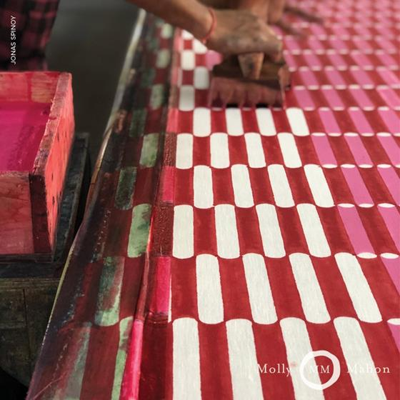 179280 Luna Pink and Red by Schumacher Fabric4