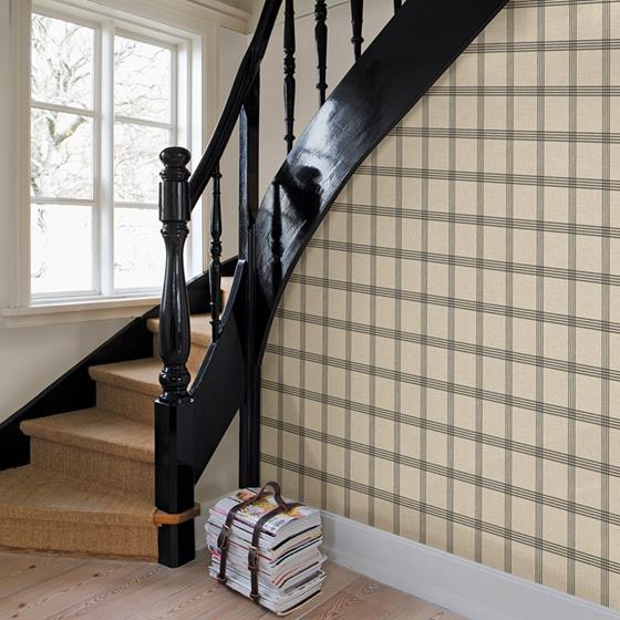 Twain Black Plaid by Chesapeake Wallpaper
