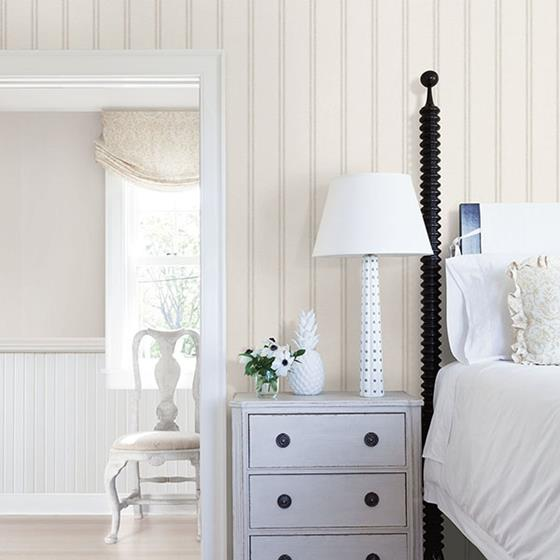 Johnny Grey Stripes by Chesapeake Wallpaper