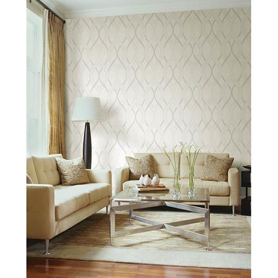 2625-21854 Symetrie Frequency Cream Ogee by A Street Prints2