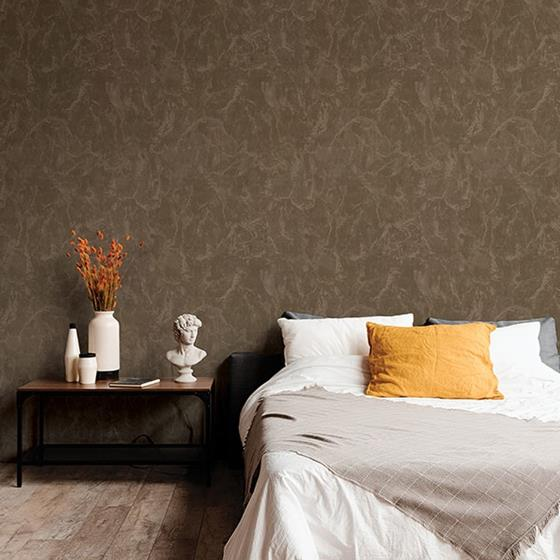 Crux Chocolate Marble by Brewster Wallpaper