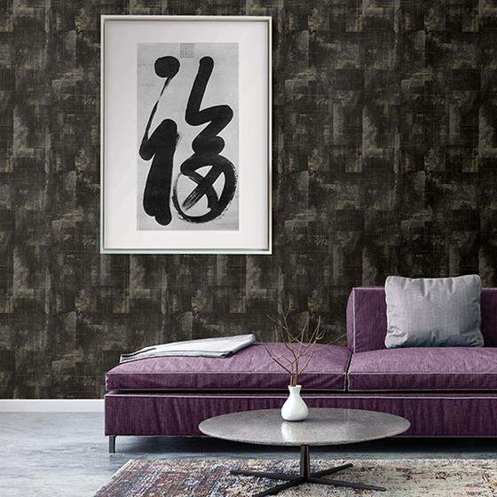 Ozone Black Texture by Brewster Wallpaper