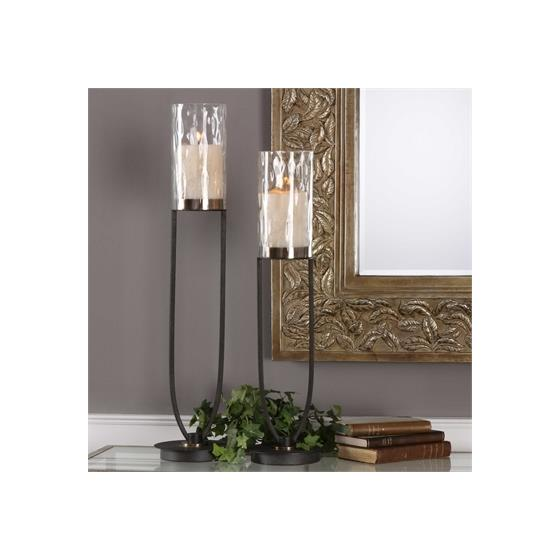 18835 Durga Candleholders S/2 by Uttermost-2