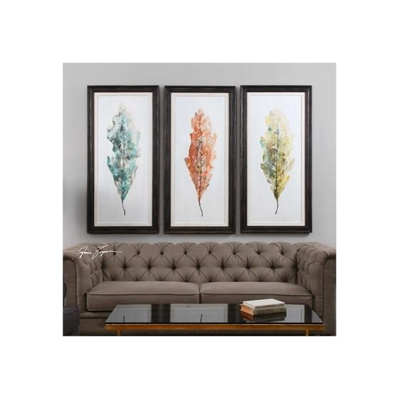 33634 Tricolor Leaves S/3 by Uttermost-2