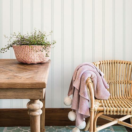 Johnny Teal Stripes by Chesapeake Wallpaper