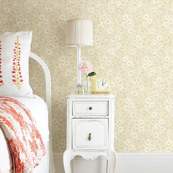 Patsy Beige Floral by Chesapeake Wallpaper