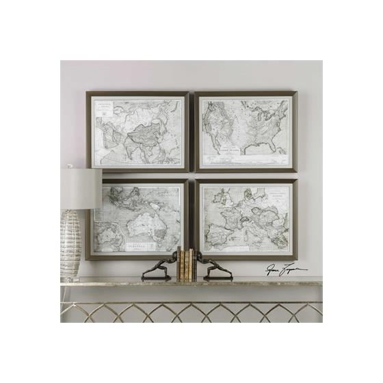 33639 World Maps S/4 by Uttermost-2