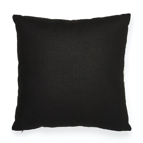 """So7616204 Hendrix Embroidery 18"""" Pillow Black By Schumacher Furniture and Accessories 2"""