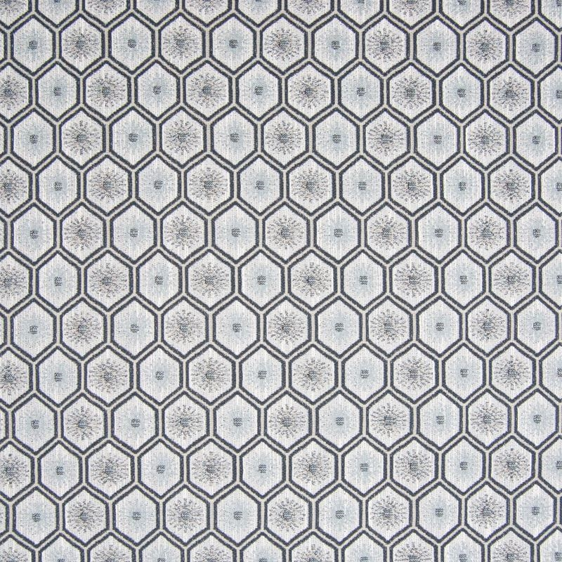 B7460 Feather, Gray Geometric Upholstery by Greenh