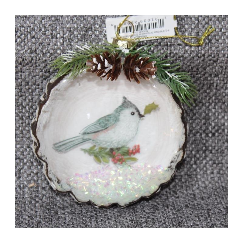 XM4440B Glass Tufted Titmouse Ornament