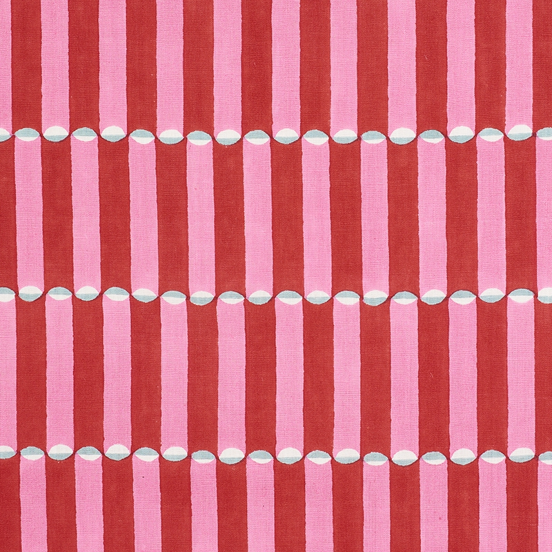 179280 Luna, Pink and Red by Schumacher Fabric