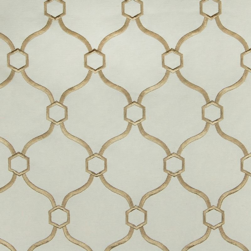 A6680 Sand, Neutral Medallion Drapery by Greenhous