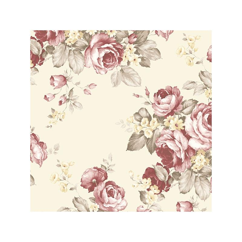 AF37702 Flourish Abby Rose 4, Red Grand Floral Wal