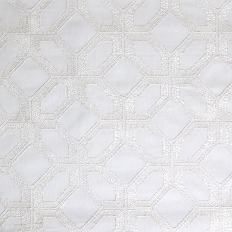 B6382 Cloud, White Medallion by Greenhouse Fabric