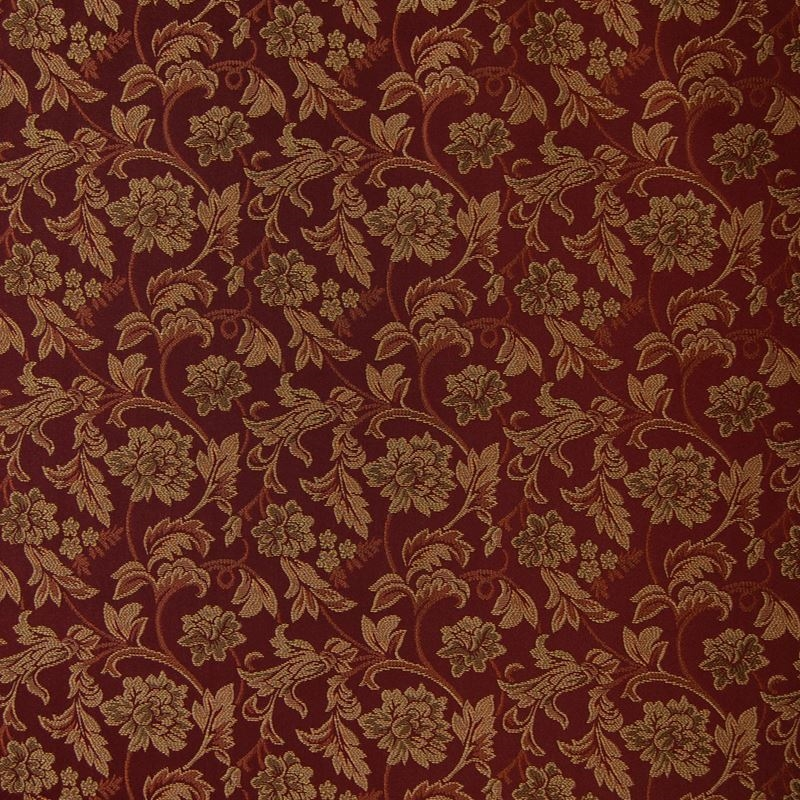 A8817 Merlot, Red Jacquard Fabrics Upholstery by G