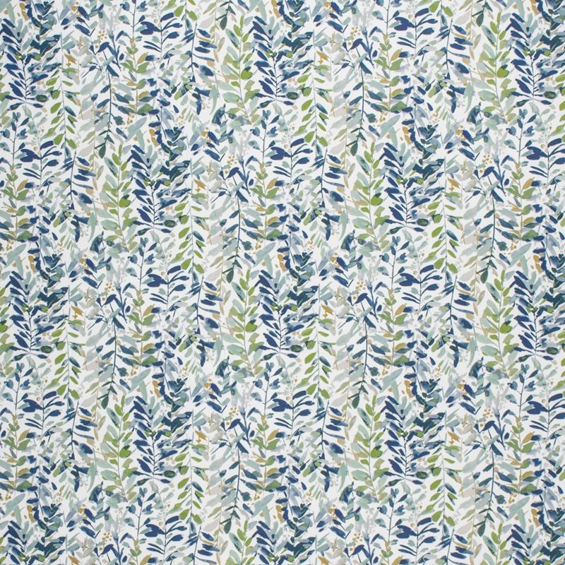 F1482 Leaf, Blue Tropical Upholstery Fabric by Gre