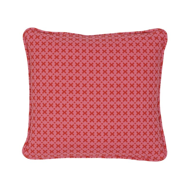 """So7720102 Elias 14"""" Pillow, Pink and Red By S"""