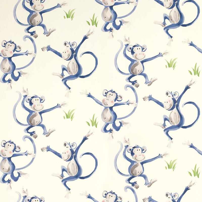 3622324 Cheeky Monkey Blue Laura Ashley