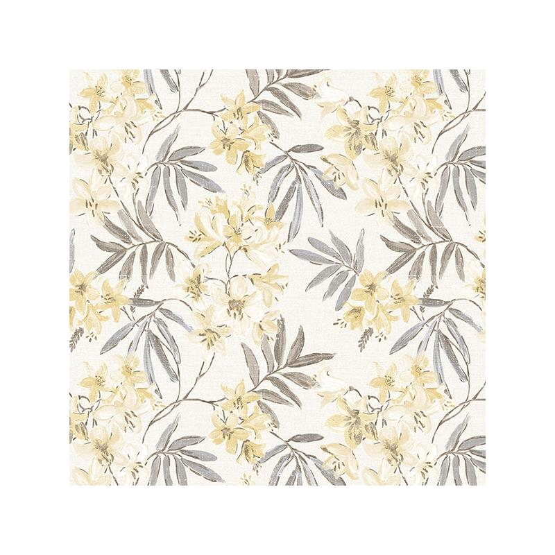 AF37726 Flourish Abby Rose 4, Yellow Linen Floral
