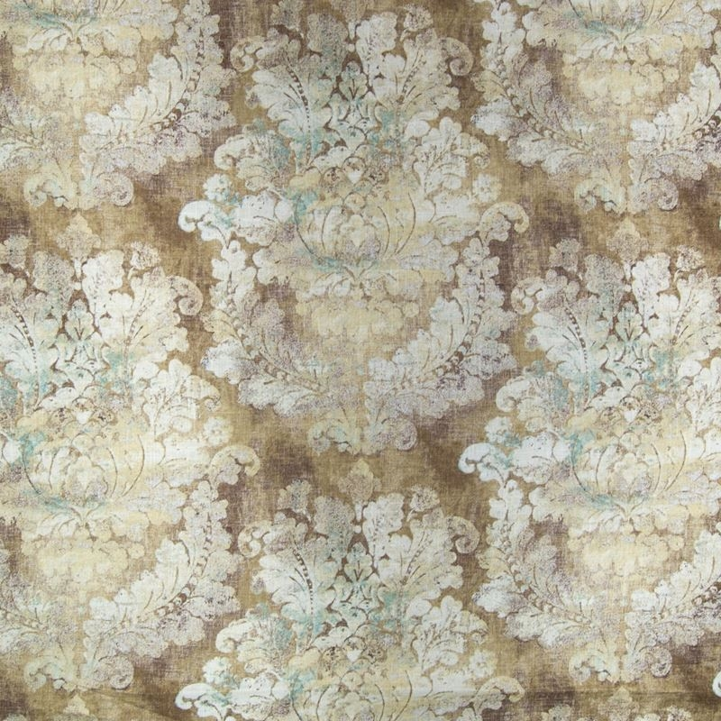 B2339 Bronze, Brown Medallion Upholstery by Greenh