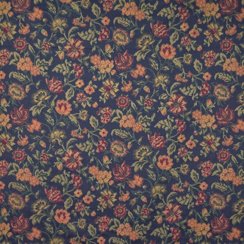 B1640 Blackberry, Blue Tapestry Upholstery by Gree
