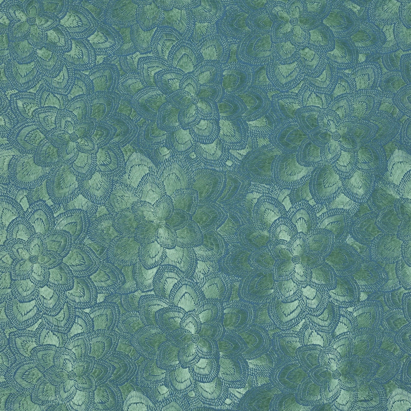 78342 Lotus Embroidery, Jade by Schumacher Fabric