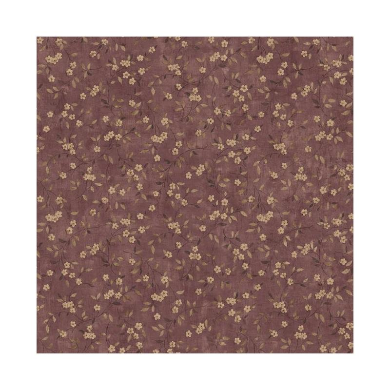 LG1308 Floral Sprig - Burgundy by York Wallcoverin
