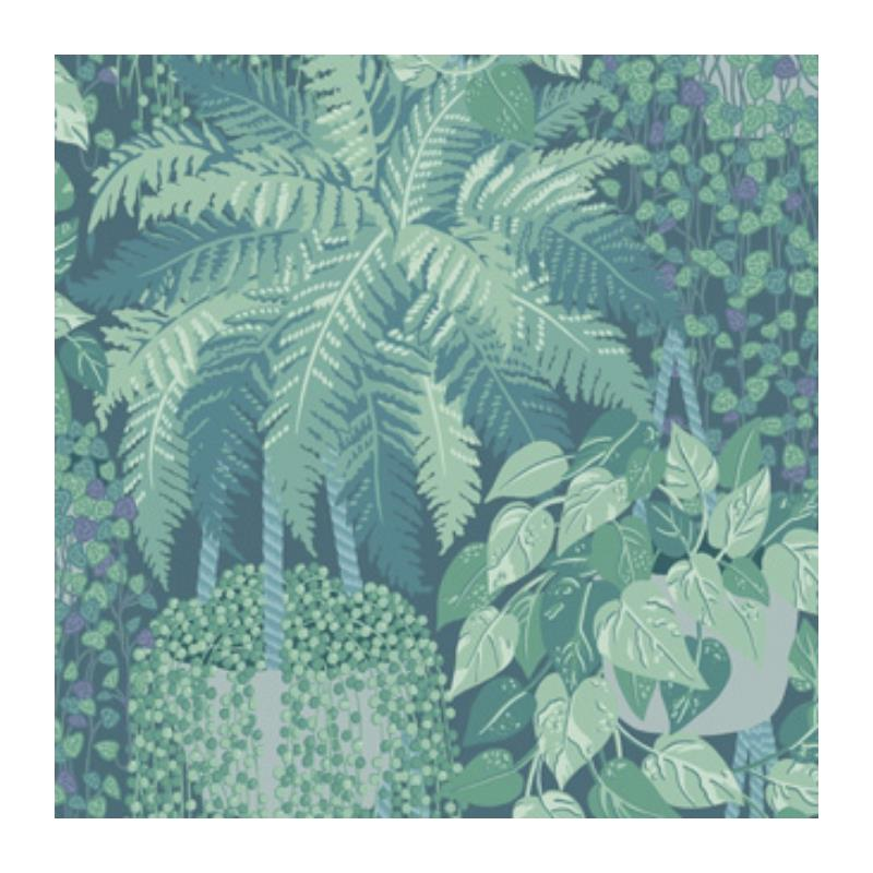 115-7022 Fern, Viridian And Teal Print by Cole and